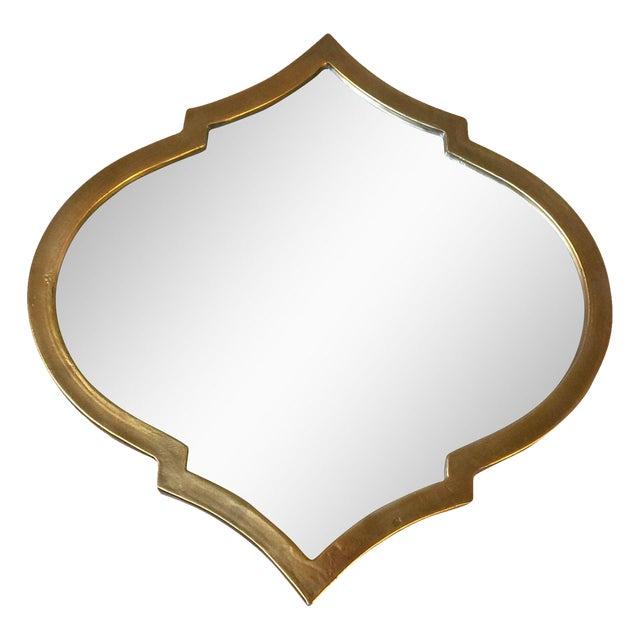 Gold Quatrefoil Metal Mirror - Image 1 of 6