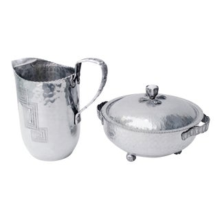 Art Deco Water Pitcher & Ice Bowl