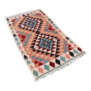 Hand Woven Anatolian Turkish Kilim Rug - 3′2″ × 5′5″