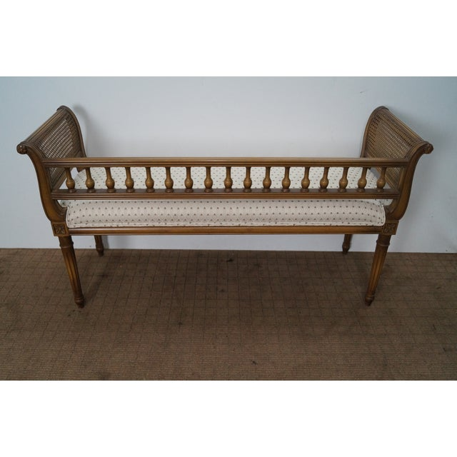 Vintage French Louis XVI Style Window Bench - Image 5 of 10