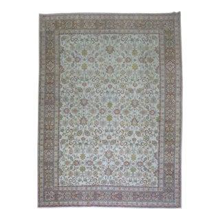 Shabby Chic Persian Kashan Rug, 8'5'' X 11'5''