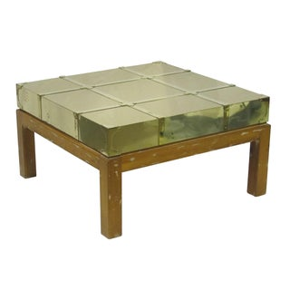 Vintage Sarreid LTD Brass Cocktail Table