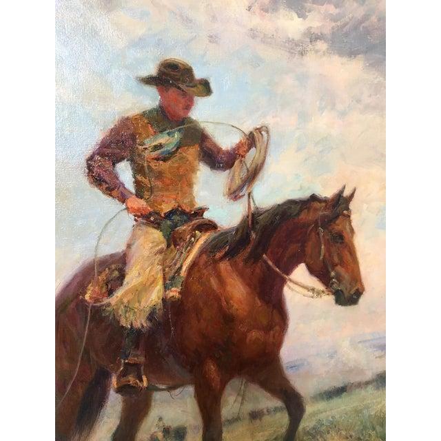 """Montana Artist Joyce Lee """"Practice Loop"""" Original Painting - Image 5 of 9"""