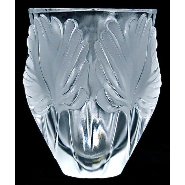"Lalique ""Palm Fronds"" Crystal Vase - Image 2 of 5"