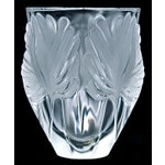 "Image of Lalique ""Palm Fronds"" Crystal Vase"