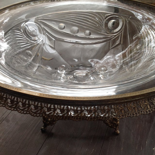 Heisey Mounted Ipswich Pattern Art Deco Bowl - Image 5 of 5