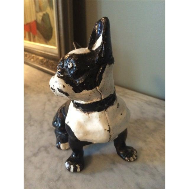 Vintage Cast Iron Boston Terrier - Image 3 of 5