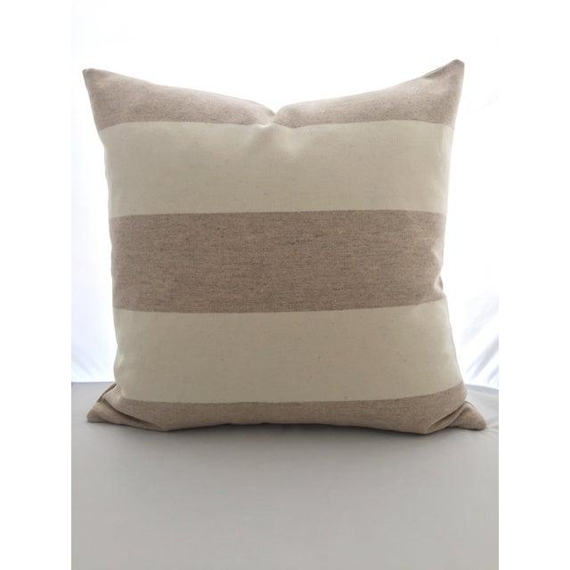 Italian Eco-Friendly Stripes Wool Pillow - Image 2 of 4