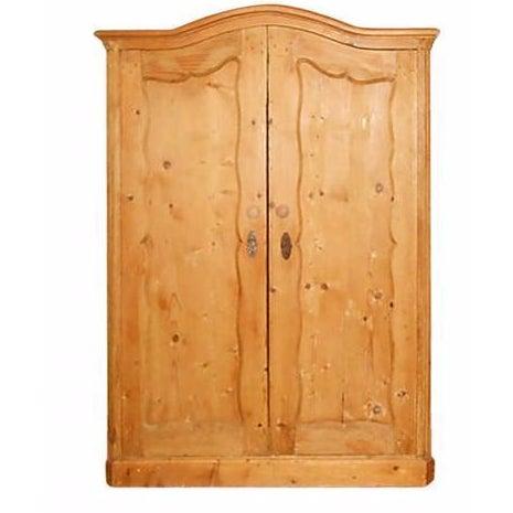 Image of Double-Door Swedish Pine Armoire