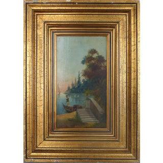 Venetian Gondolier Oil on Board