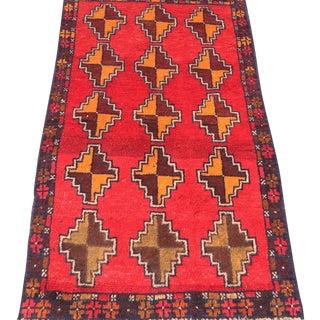 "Baluchi Hand Made Persian Rug - 2'6""x4'2"""