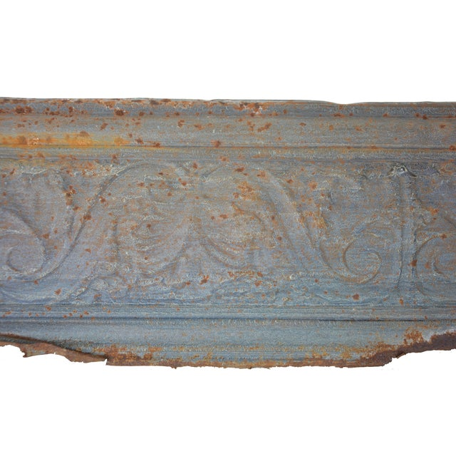 Image of Vintage European Embossed Tin Object