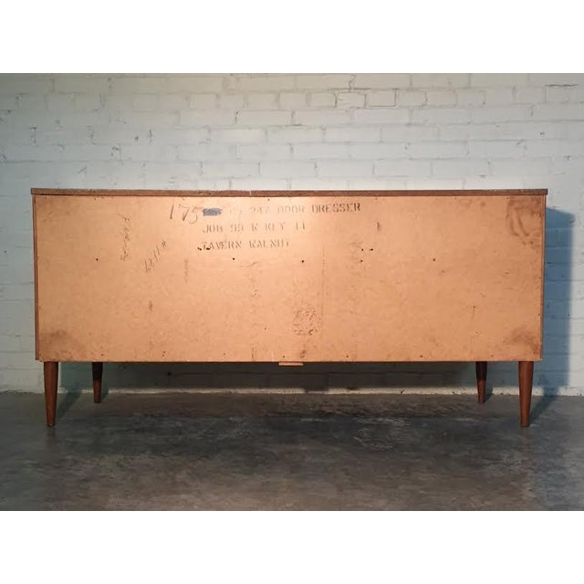Image of Mid-Century Danish Modern Walnut 9-Drawer Dresser