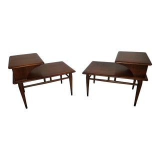Lane Acclaim Two Tier Side Tables - A Pair