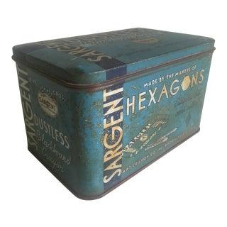 "Vintage 1930's ""Sargent Dustless Blackboard Crayons Brooklyn Ny"" Tin Box"