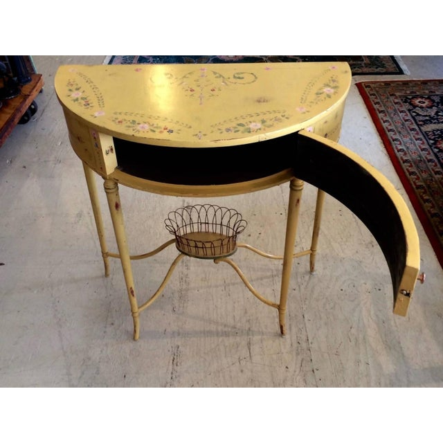 Hand-Painted French Demilune Console - Image 2 of 8