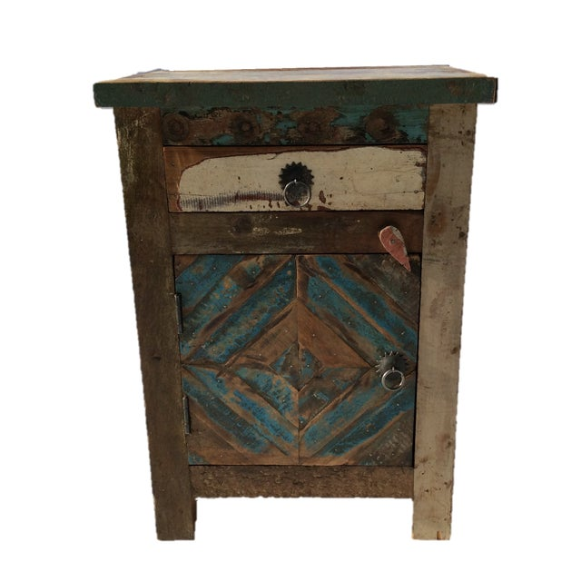Reclaimed Wood Side Table/Small Cabinet - Image 1 of 5