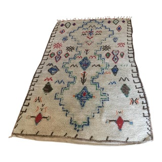 Vintage Azilal Beni Moroccan Berber Rug - 4′7″ × 7′6″