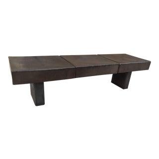 Indoor and Outdoor Cement Glazed Ceramic Bench