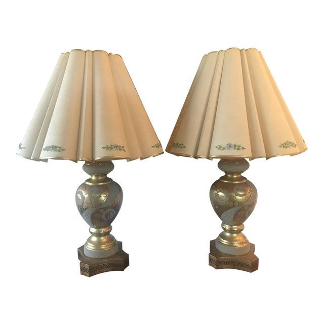 Mid-Century Hollywood Regency Gilt Lamps - A pair - Image 1 of 11