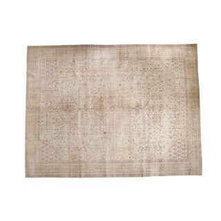 "Vintage Distressed Oushak Carpet - 10'1"" x 13'2"""