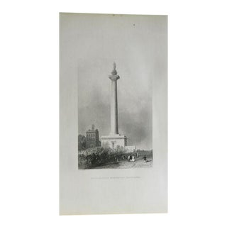 "1883 Antique Print ""Washington Monument"""