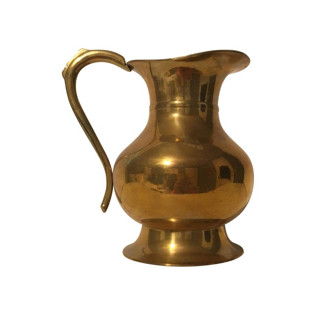 Large Brass Pitcher - Image 1 of 7