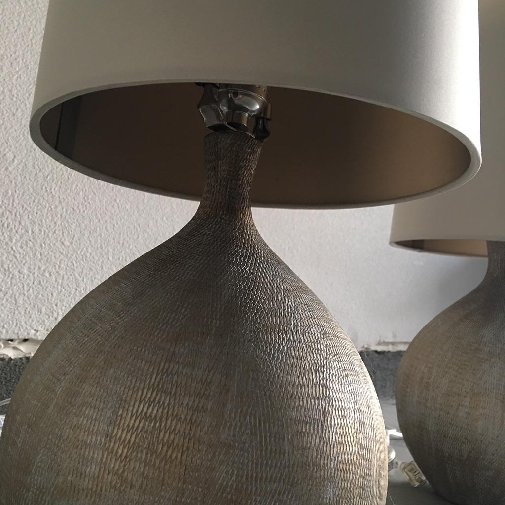 Crate U0026 Barrel Vera Table Lamps   Pair   Image 5 Of 10