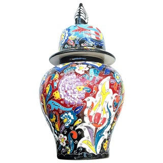 Turkish Multicolour Handmade Urn