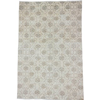 Vintage Washed Out Floral Turkish Rug 6′11″ × 10′6″