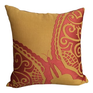 Yellow & Orange Butterfly Pillow