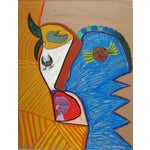 Image of Abstract Pastel Portrait Drawing