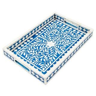 Indian Blue Bone Inlaid Tray