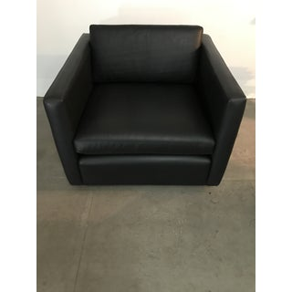 I950's club leather club chair by Charles Pfister