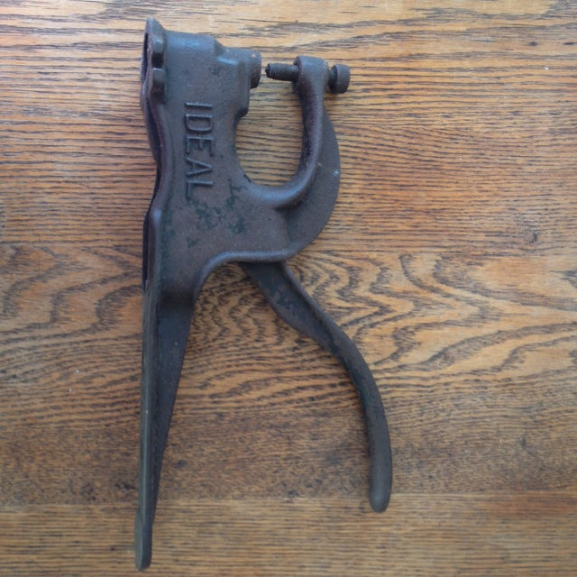 Antique Primitive Tool Leather Riveter - Image 4 of 7