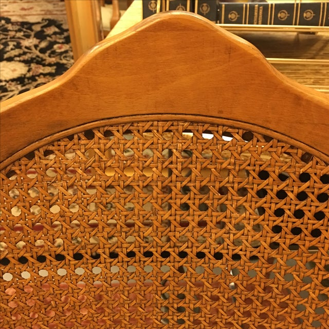 Cane Back Armchairs- A Pair - Image 7 of 10