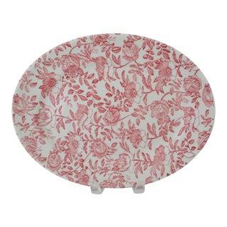 English Cranberry Chintz Platter
