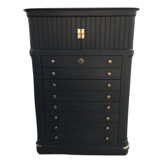 National Mount Airy Black & Gold Beadboard Dresser