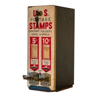 Vintage US Postage Stamp Dispenser Machine