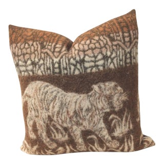 Pictorial Tiger Blanket Pillow