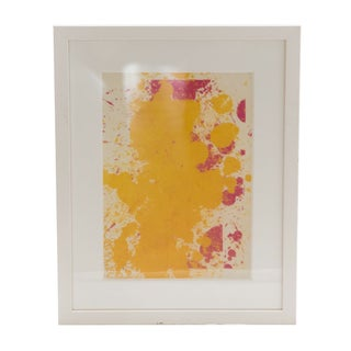 Yellow & Pink Framed Abstract Print