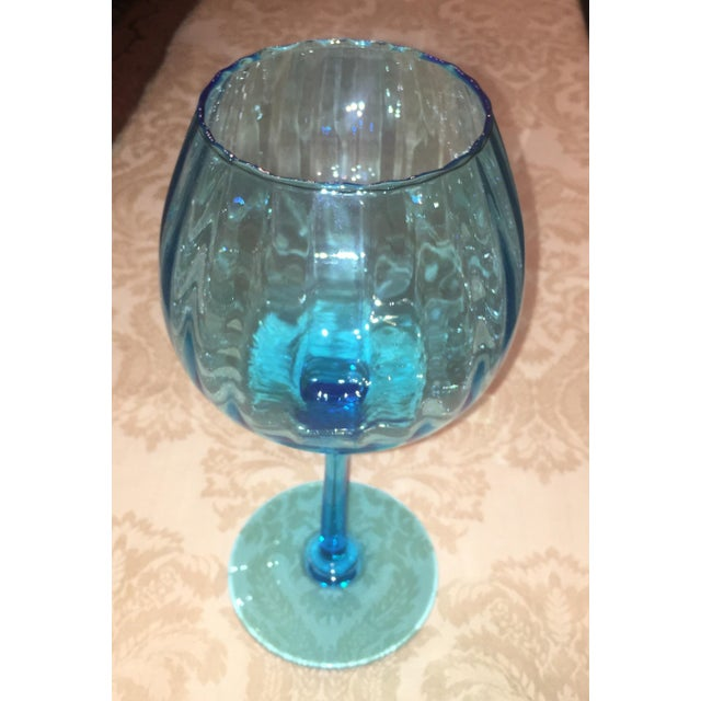 Turquoise Glass Candle Holder - Image 5 of 7