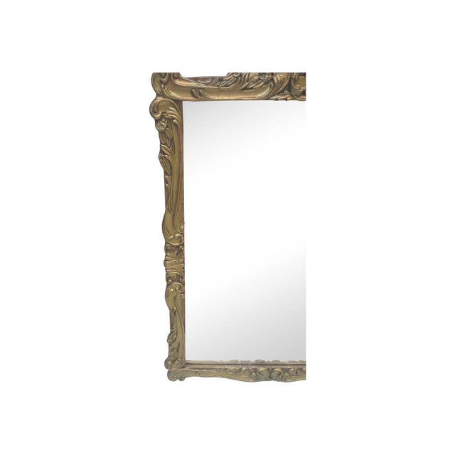 Gilt Art Nouveau Wall Mirror - Image 2 of 7