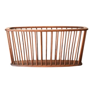 Large Danish Modern Arthur Umanoff Walnut Magazine Rack