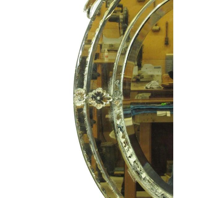 Venetian Cut Glass Wall Mirror - Image 7 of 8