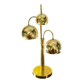 1970's Mid-Century Brass Orb Lamp