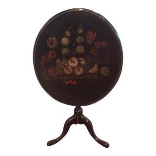 18th Century Dutch Tilt Top Table With Still Life