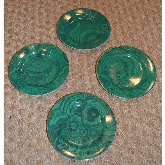 Neiman Marcus Malachite Dessert/Tapas Plates - 4 - Image 3 of 3