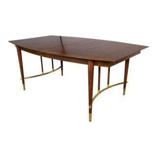 Bert England for Johnson Furniture Walnut Dining Table With 3 Leaves