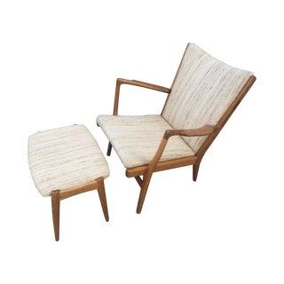 Hans Wegner Vintage Easy Chair & Ottoman